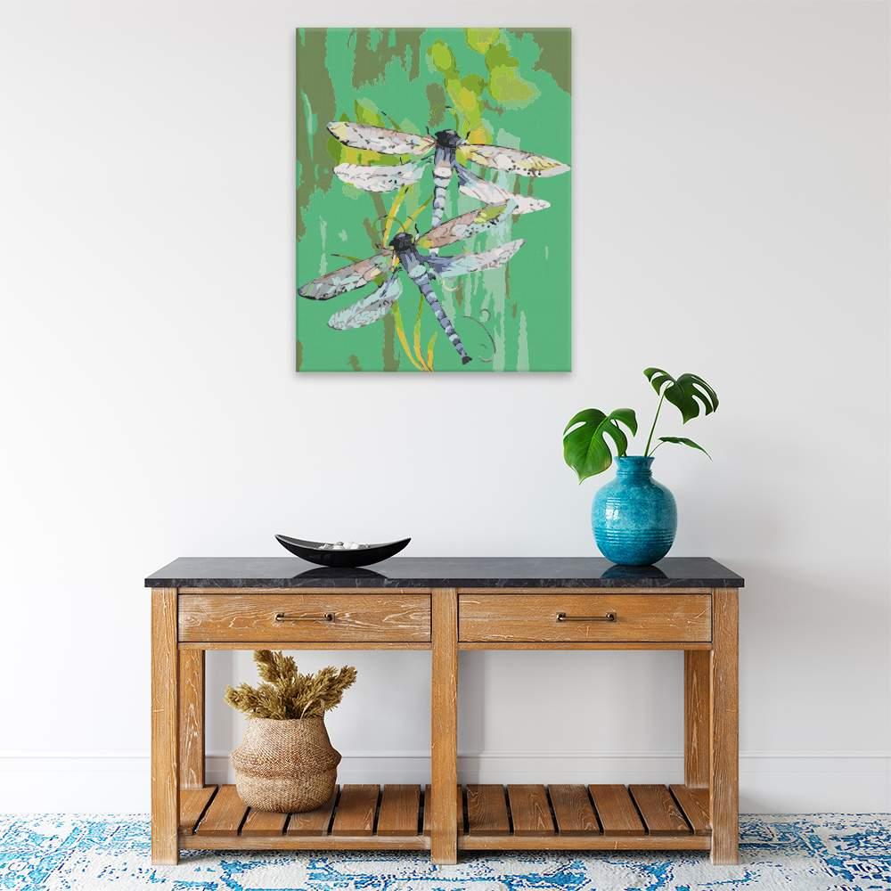 Malování podle čísel Dvě vážky
