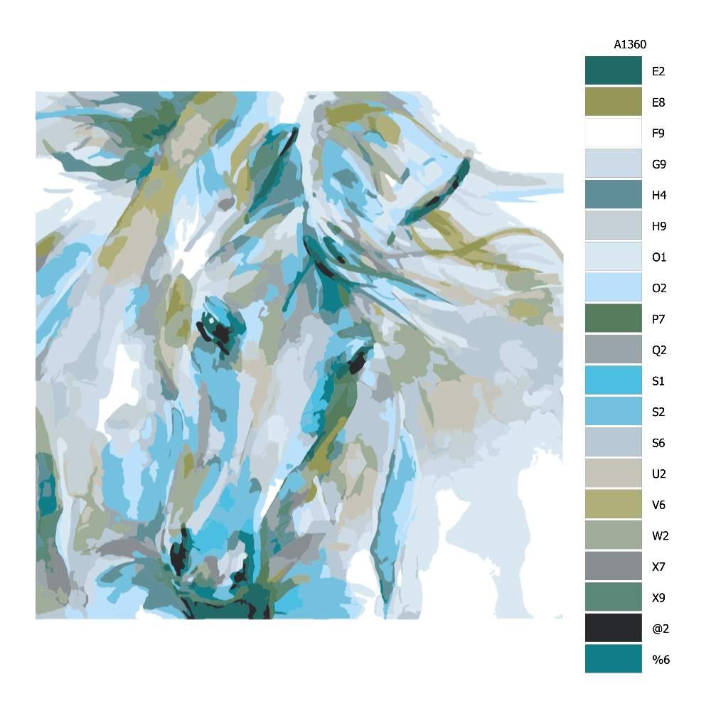 Návod pro malování podle čísel Bujnost