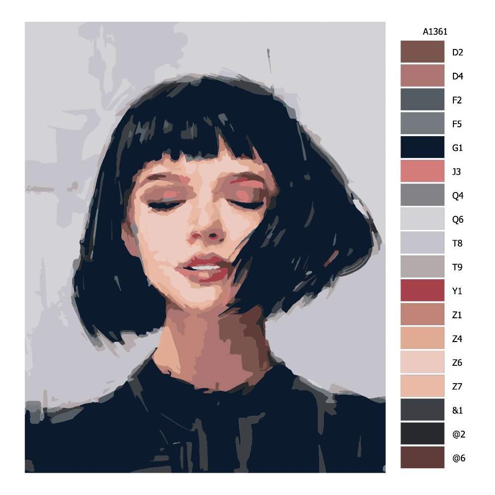 Malování podle čísel Žena s mikádem