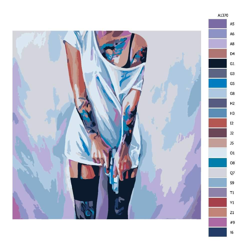 Návod pro malování podle čísel Ozbrojená