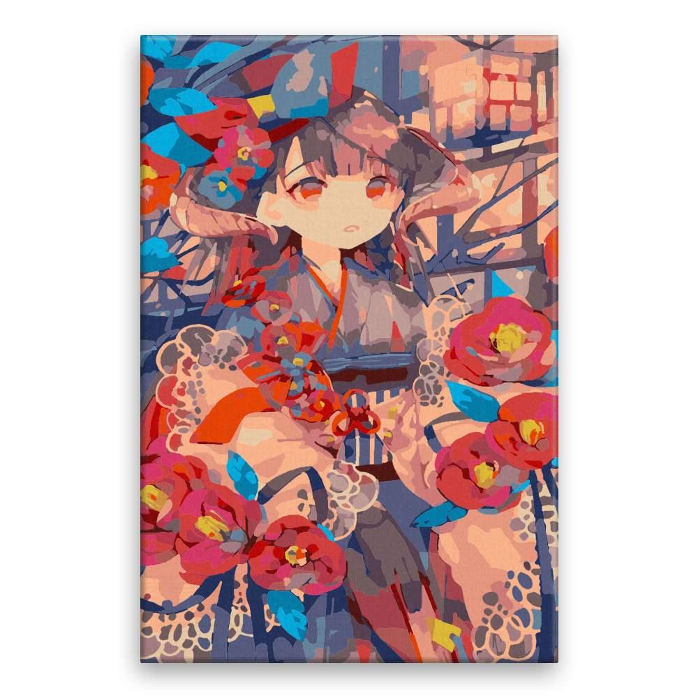 Malování podle čísel Asijska dívka