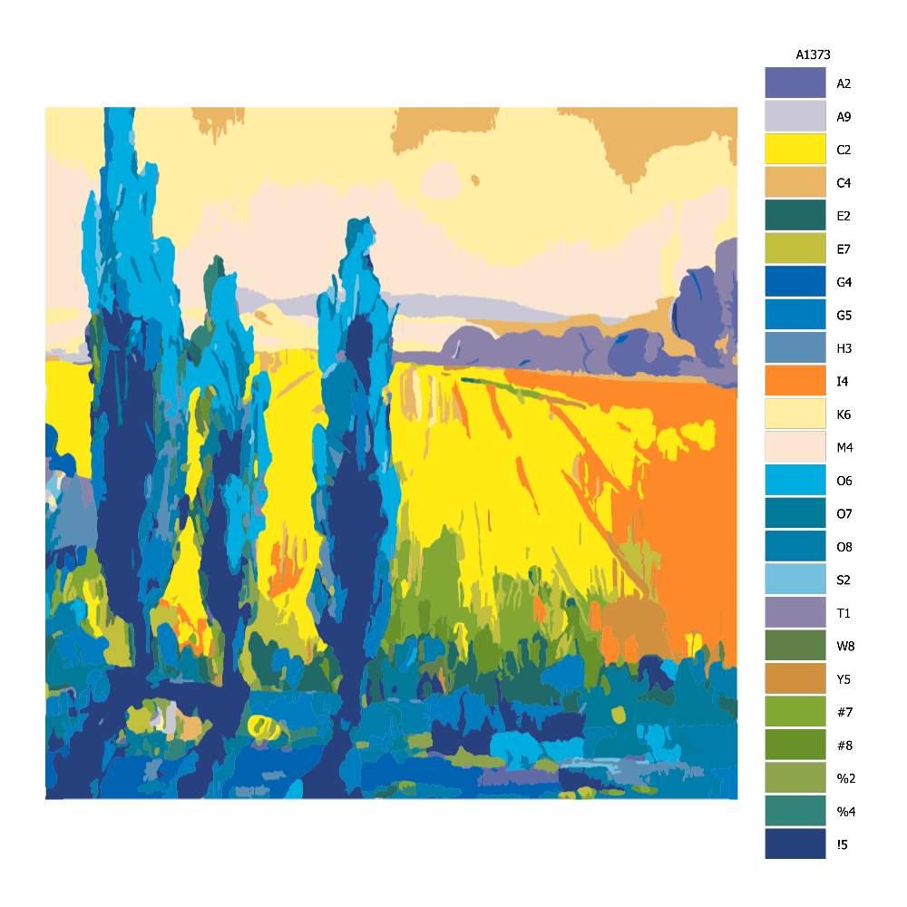 Návod pro malování podle čísel Polní krása