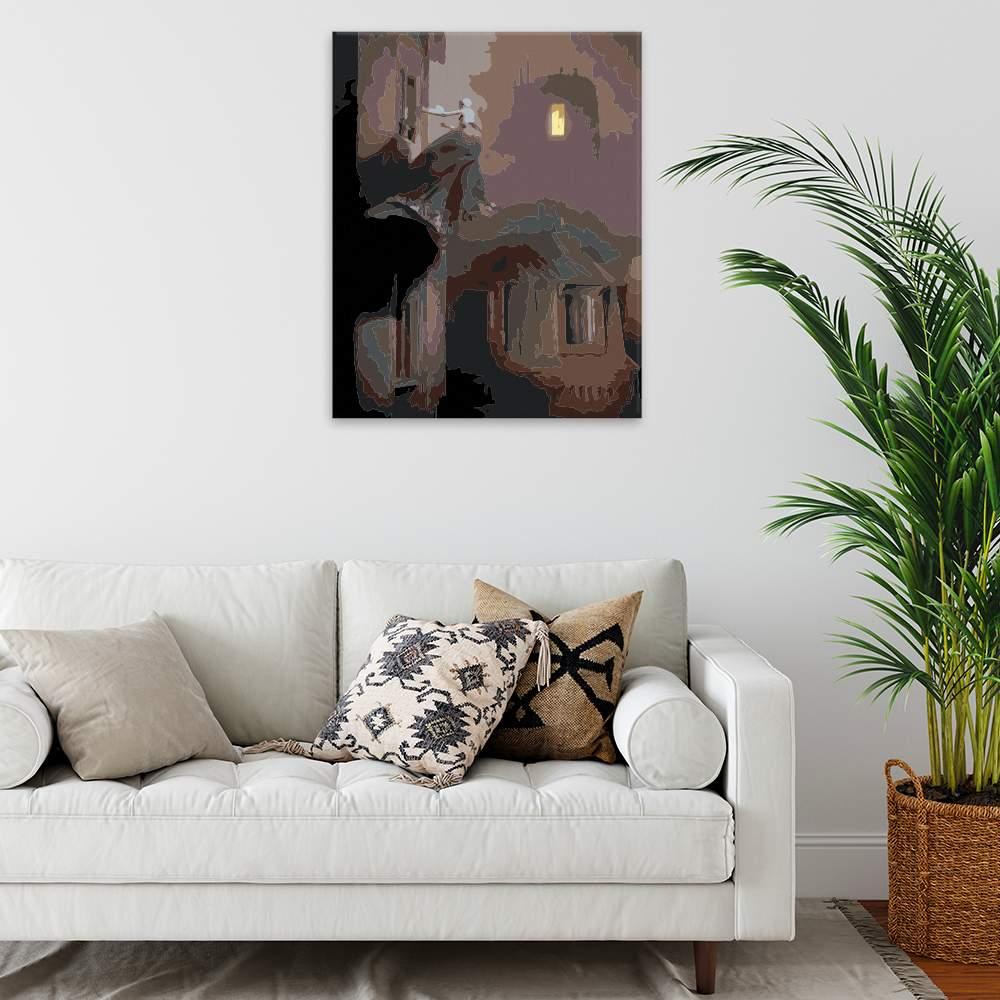 Malování podle čísel Děsivá za okny