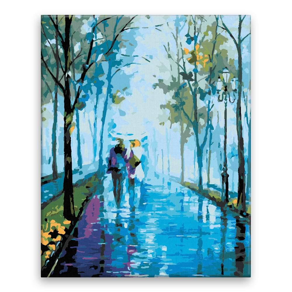 Malování podle čísel Procházka v dešti