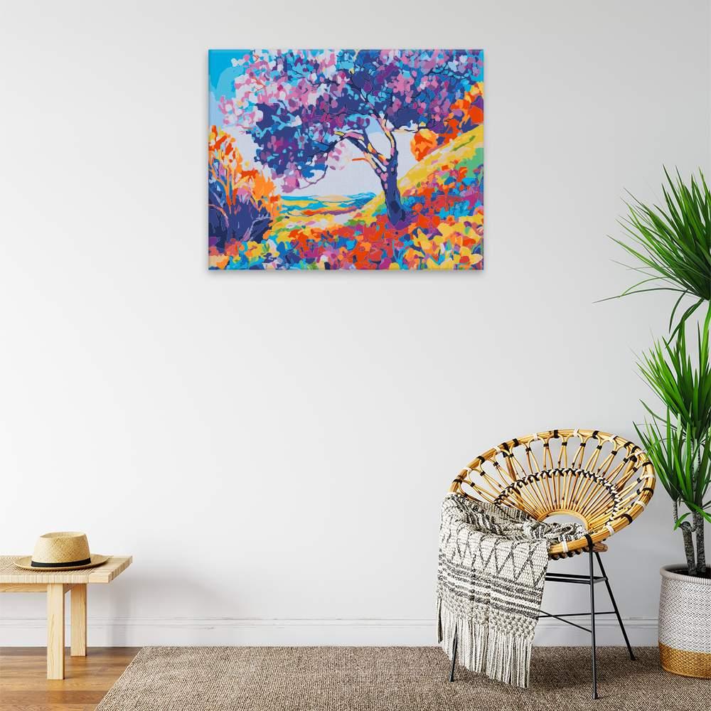 Malování podle čísel Barevná krása přírody