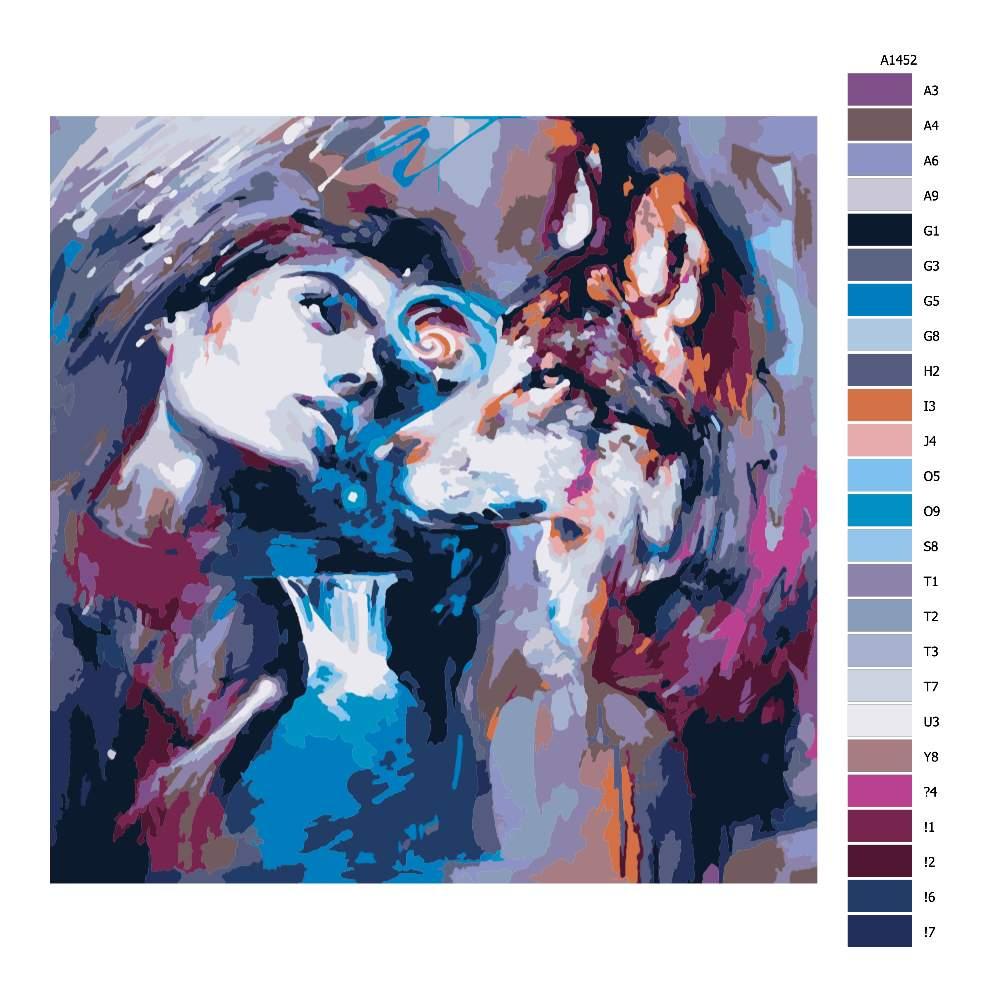 Malování podle čísel Zahleděná