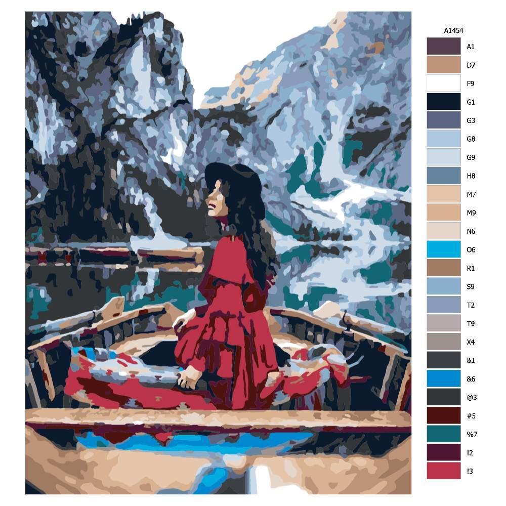 Návod pro malování podle čísel Dar přírody