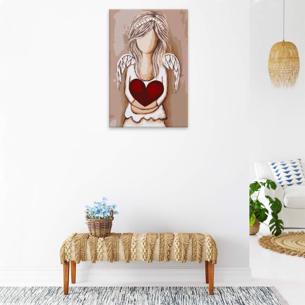 Malování podle čísel Anděl s velkým srdcem