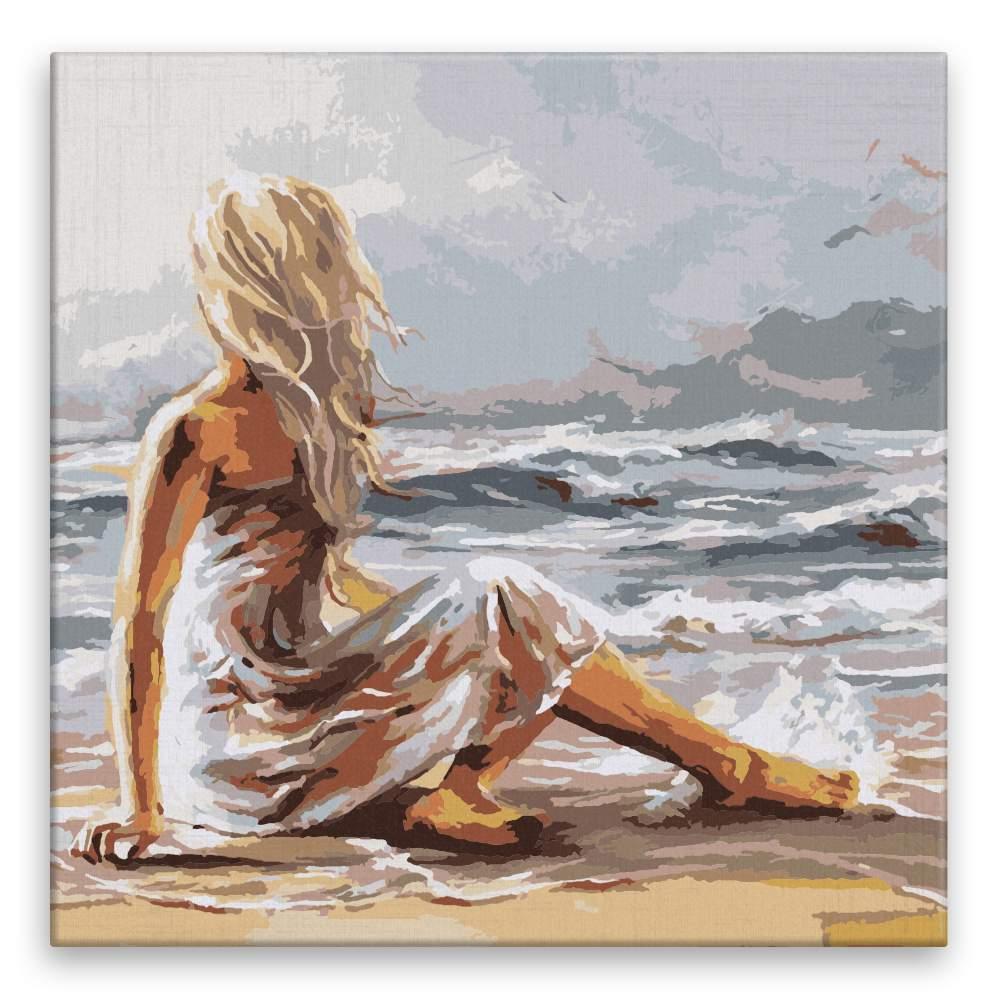 Malování podle čísel Dívka na pláži