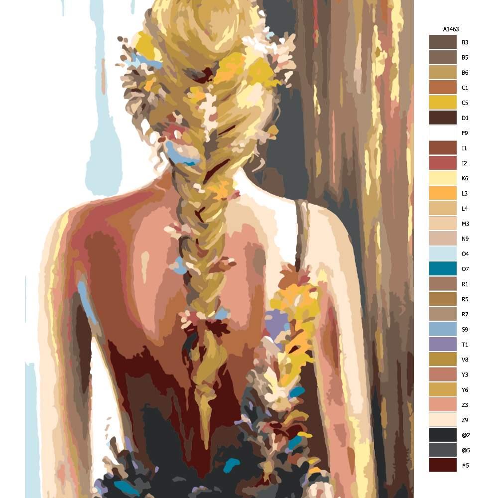 Návod pro malování podle čísel Květinové pozadí