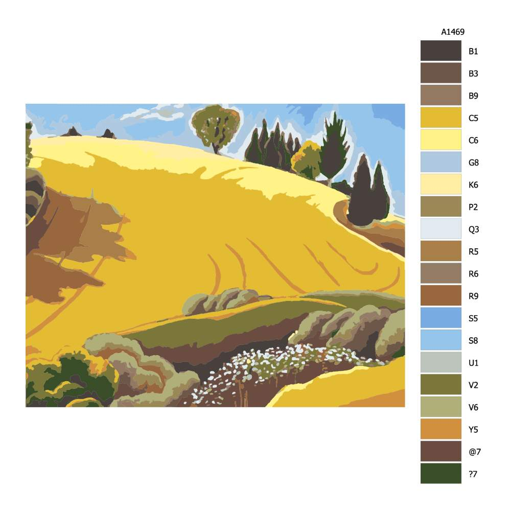Malování podle čísel Zlaté pole