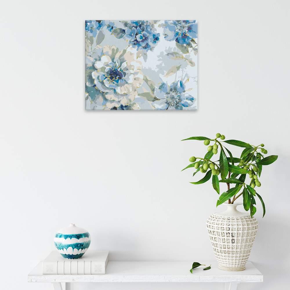 Malování podle čísel Květy v modrém