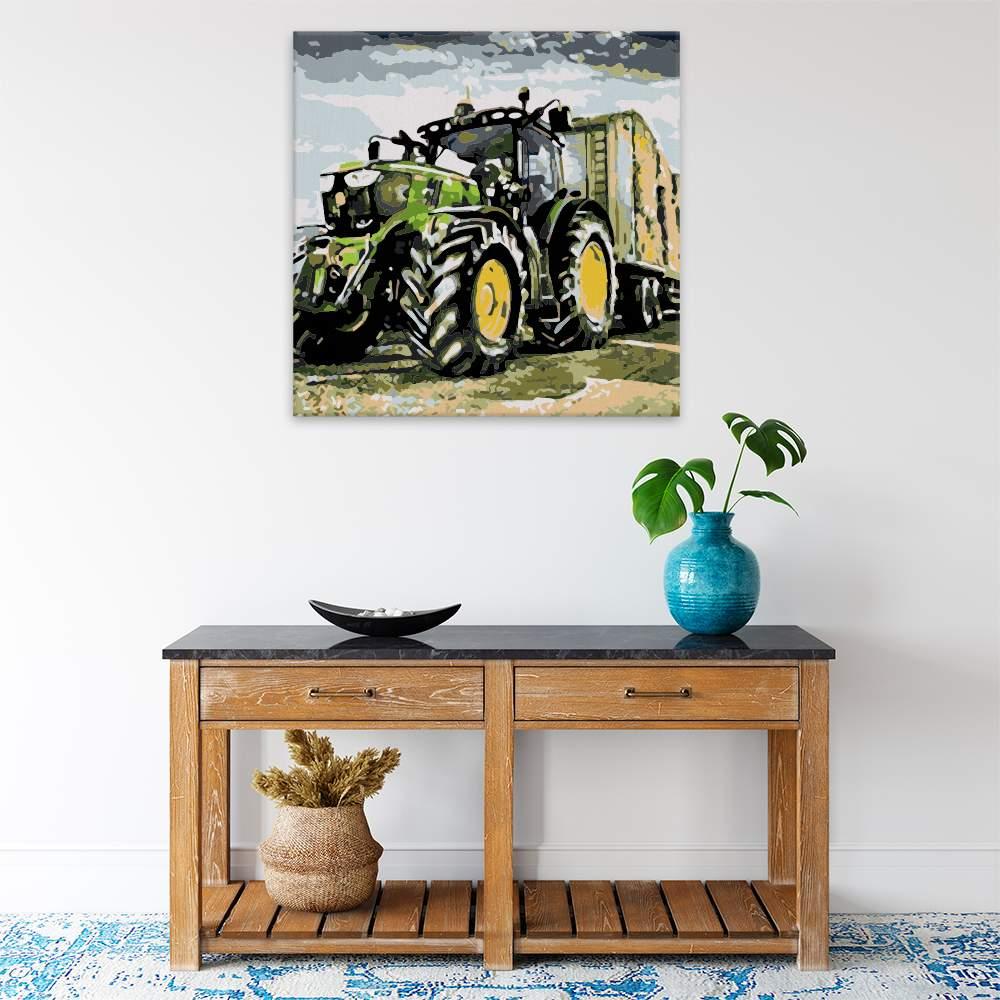 Malování podle čísel Traktor na poli