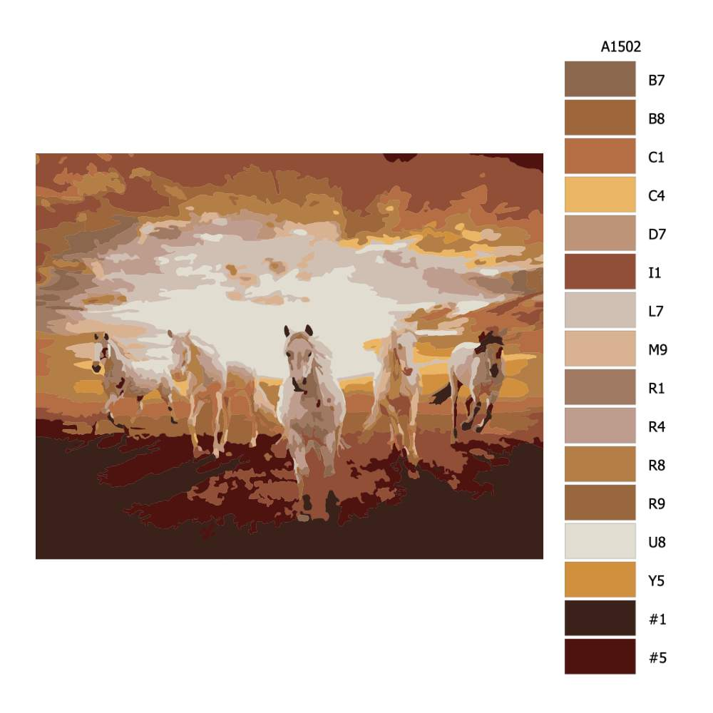 Návod pro malování podle čísel Jásná volba