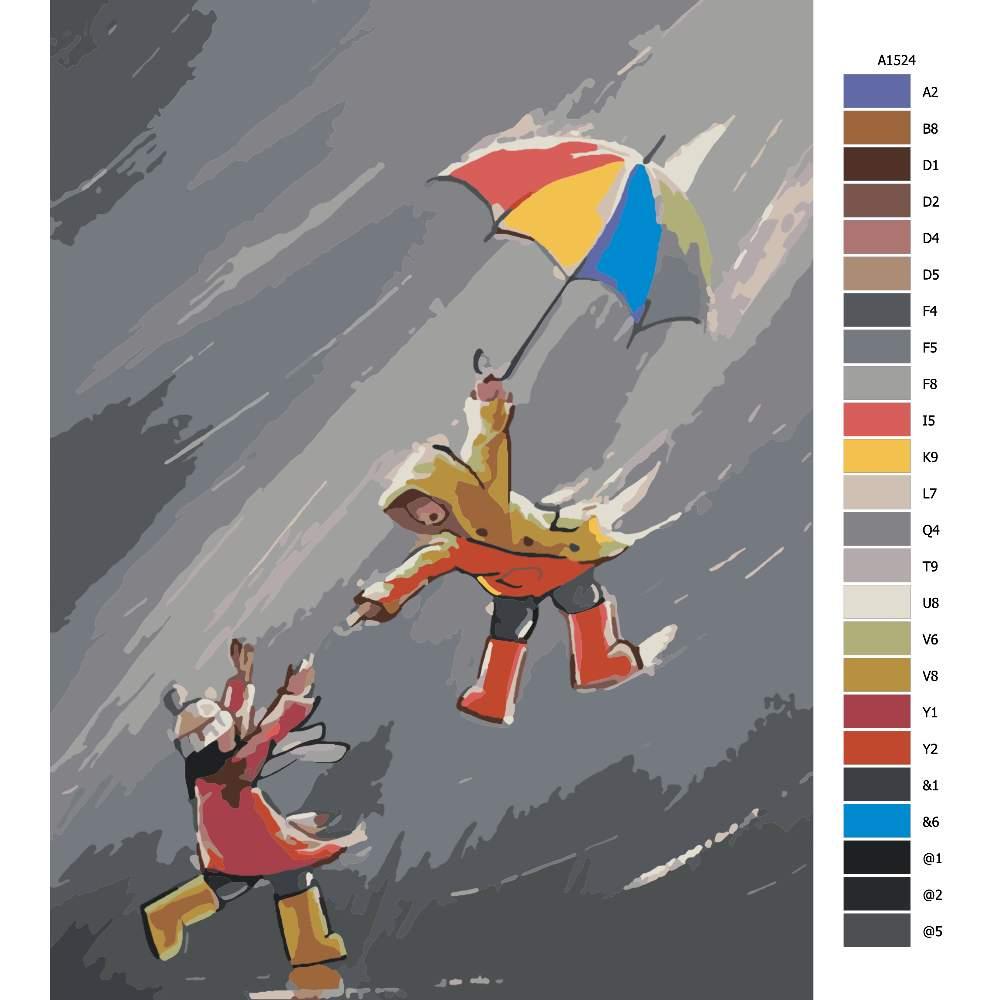 Návod pro malování podle čísel V nečase s přítelem