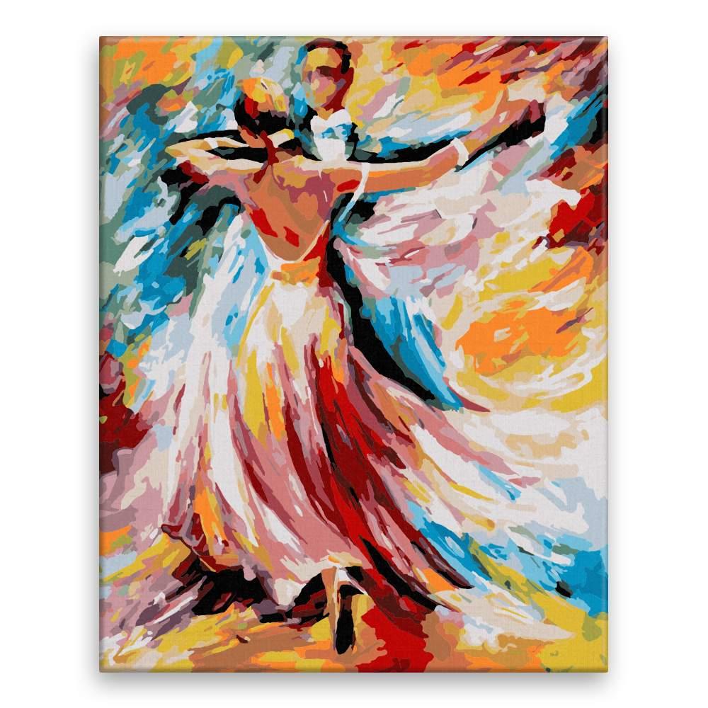 Malování podle čísel Taneční elegance