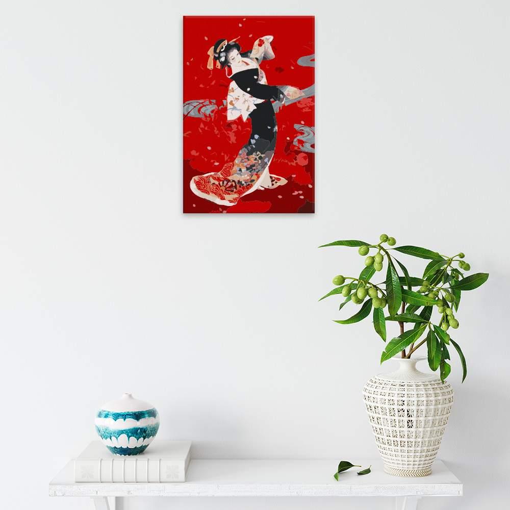 Malování podle čísel Japonská rudá krása