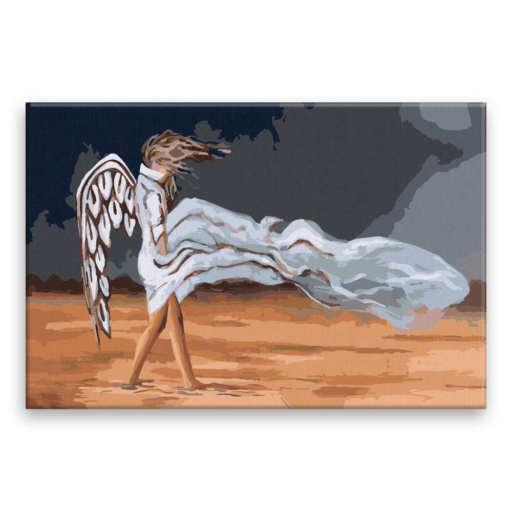 Malování podle čísel Anděl ve větru