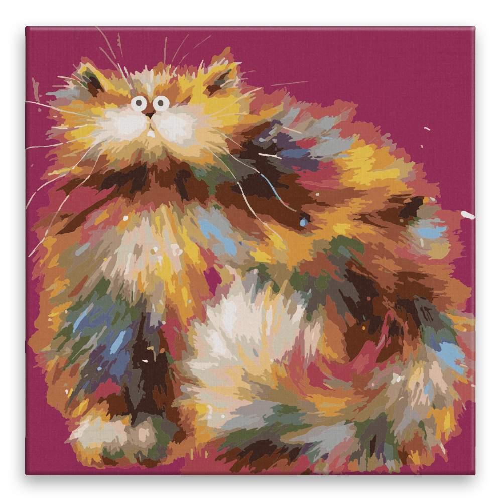 Malování podle čísel Kočka jako balón
