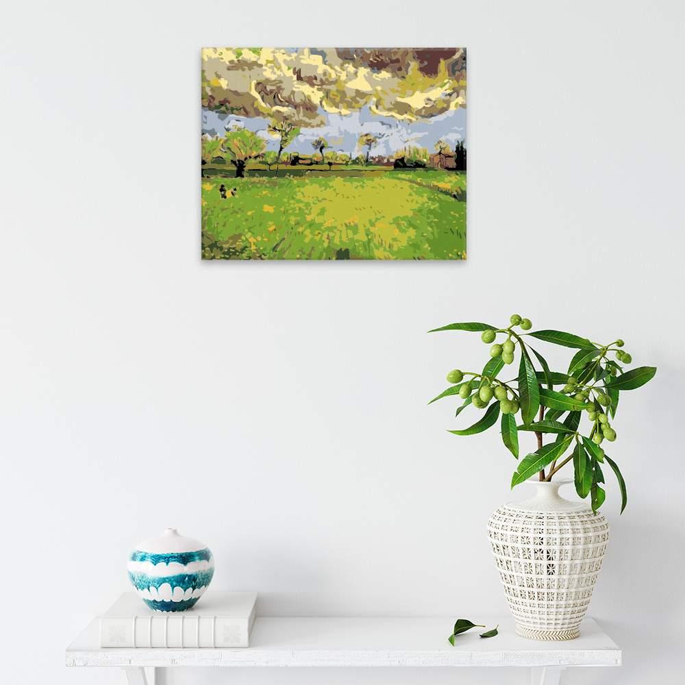 Malování podle čísel Krajina před bouří Van Gogh