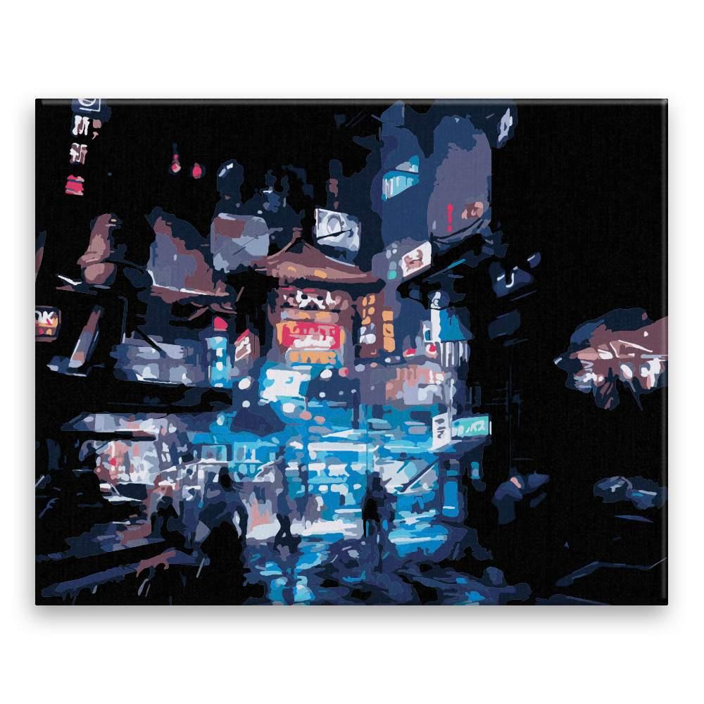 Malování podle čísel Noční město v Číně