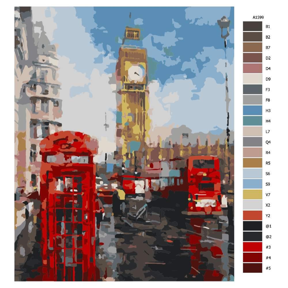 Návod pro malování podle čísel V Londýně