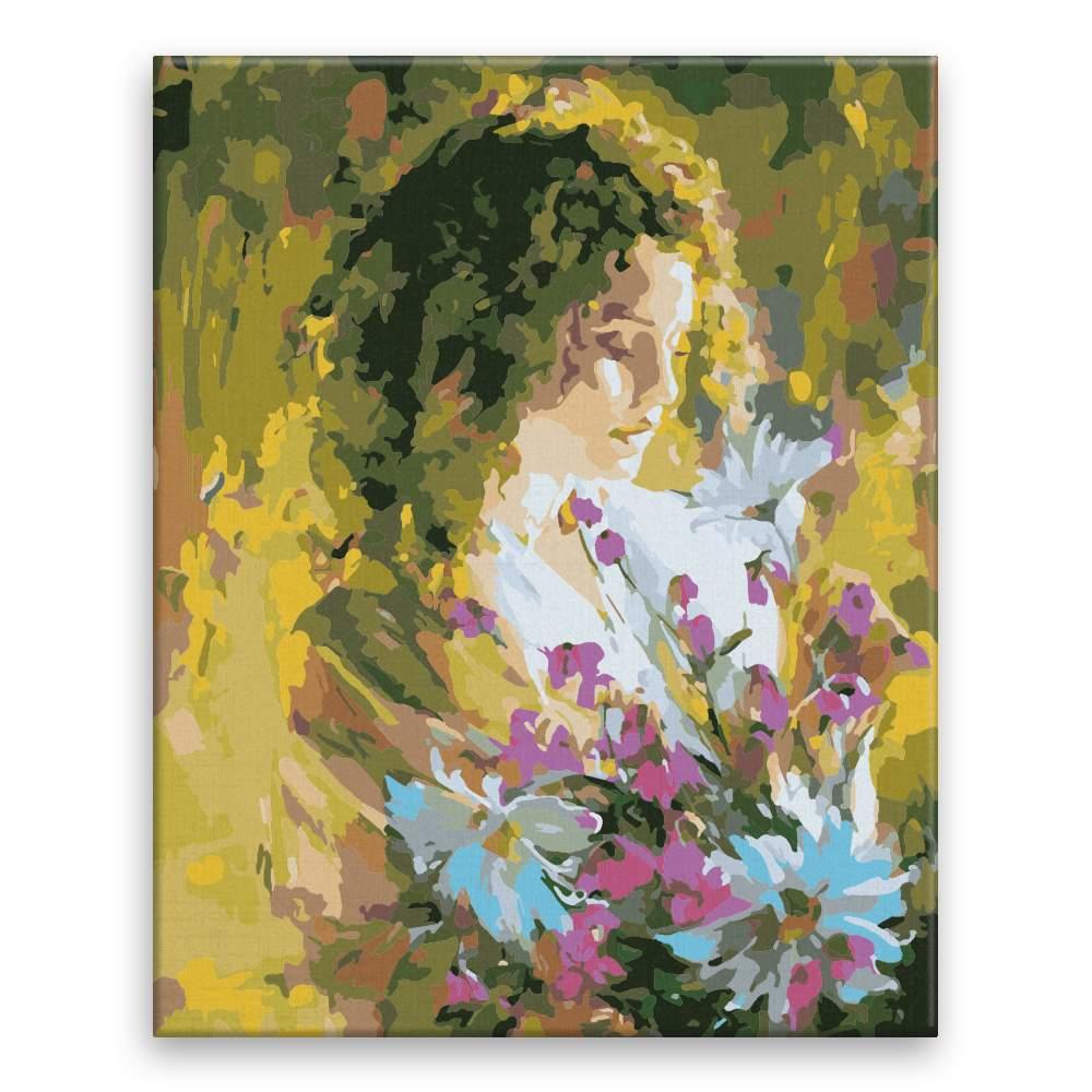 Malování podle čísel Kytka z lásky