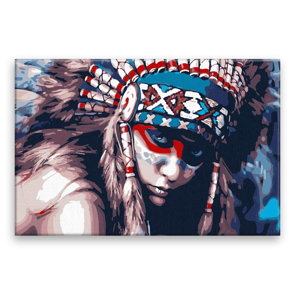 Malování podle čísel V očích indiána