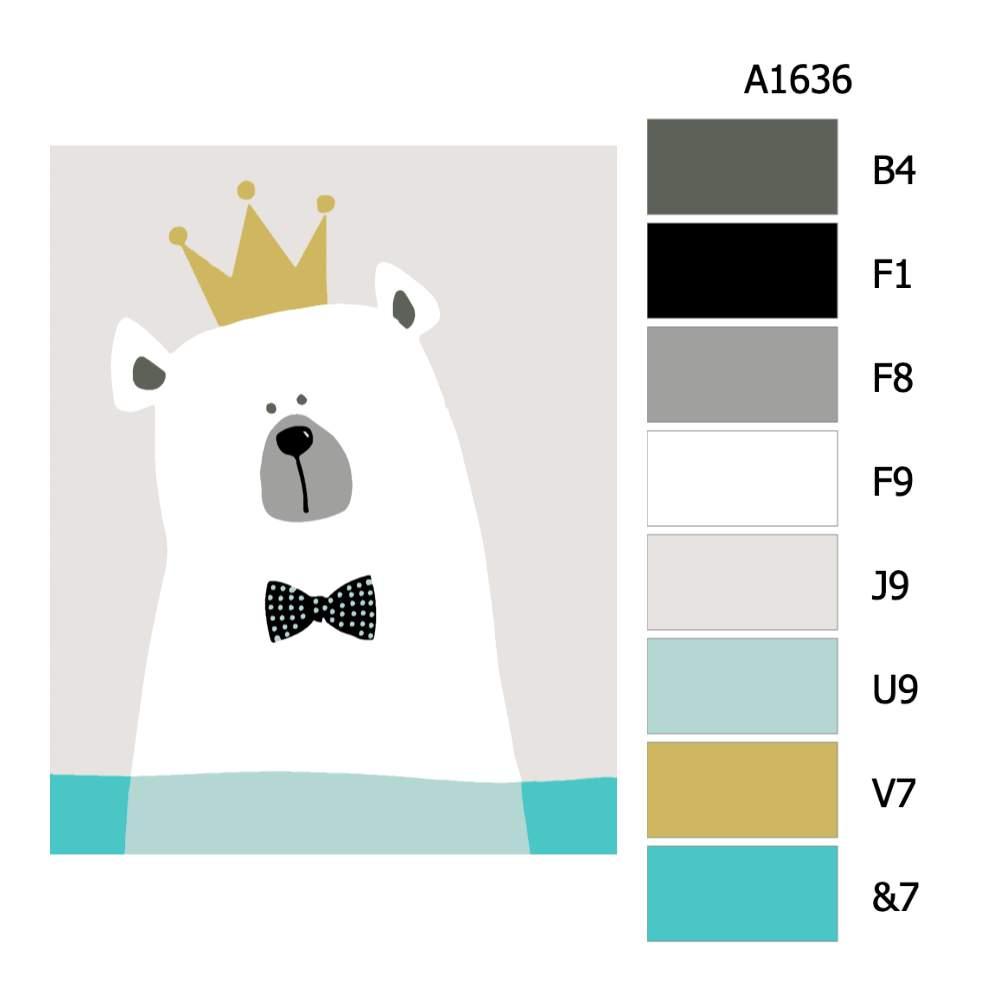 Návod pro malování podle čísel Lední král