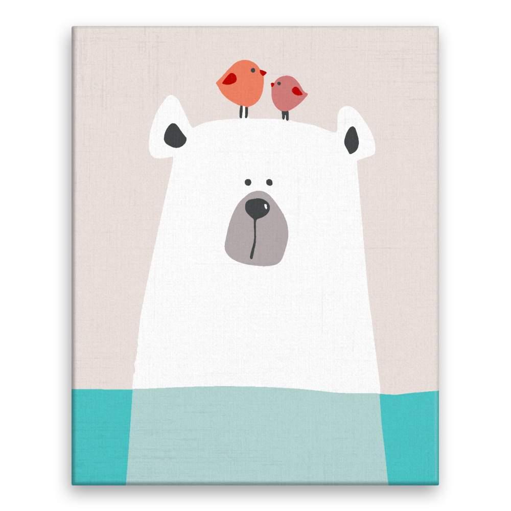 Malování podle čísel Lední medvíek a ptáčci