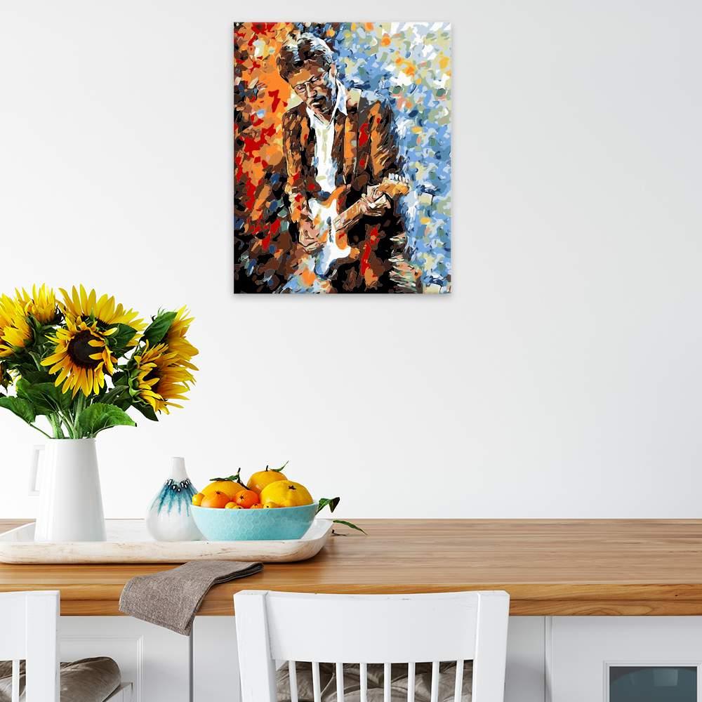 Malování podle čísel Eric Clapton v barvách