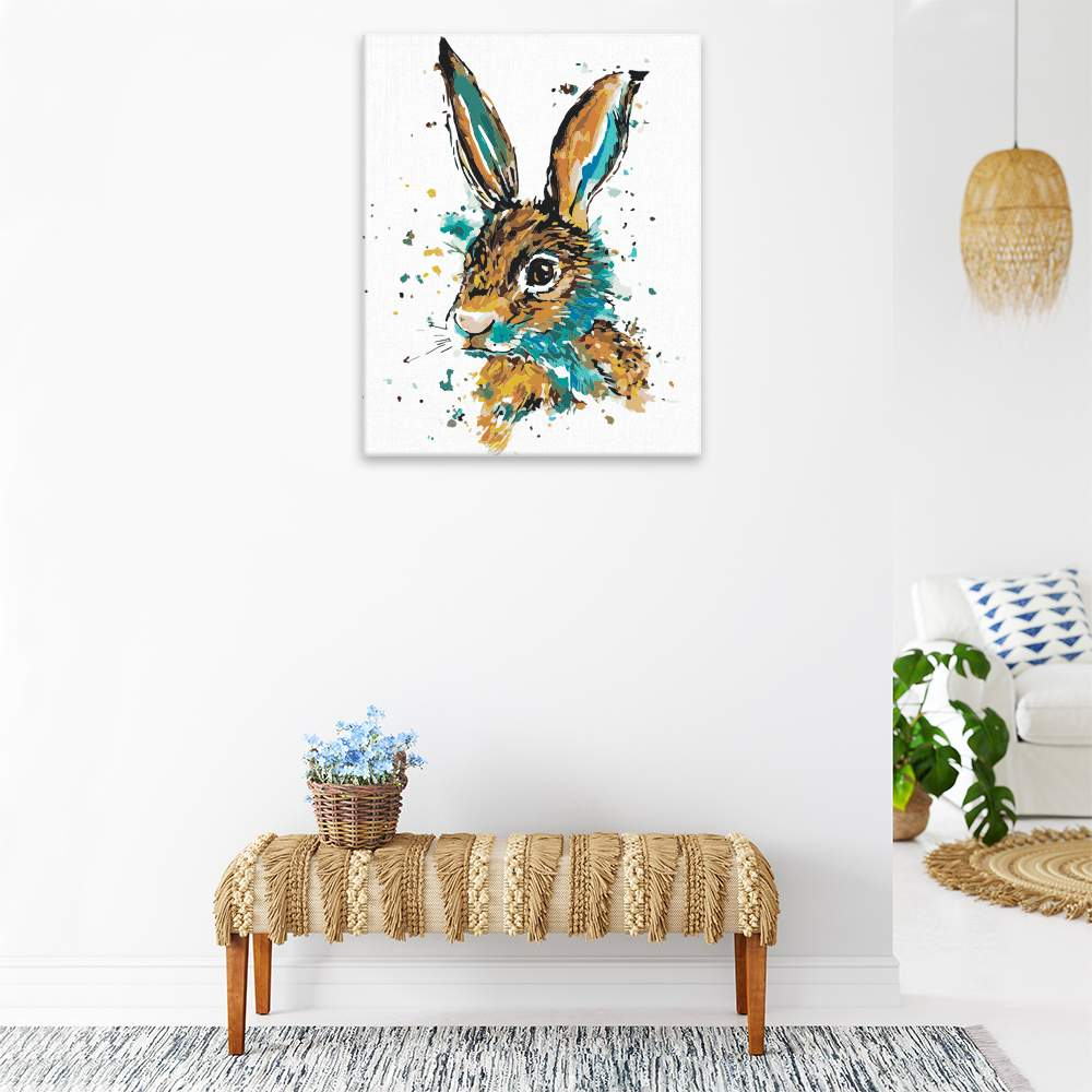 Malování podle čísel Zajíc modro hnědý