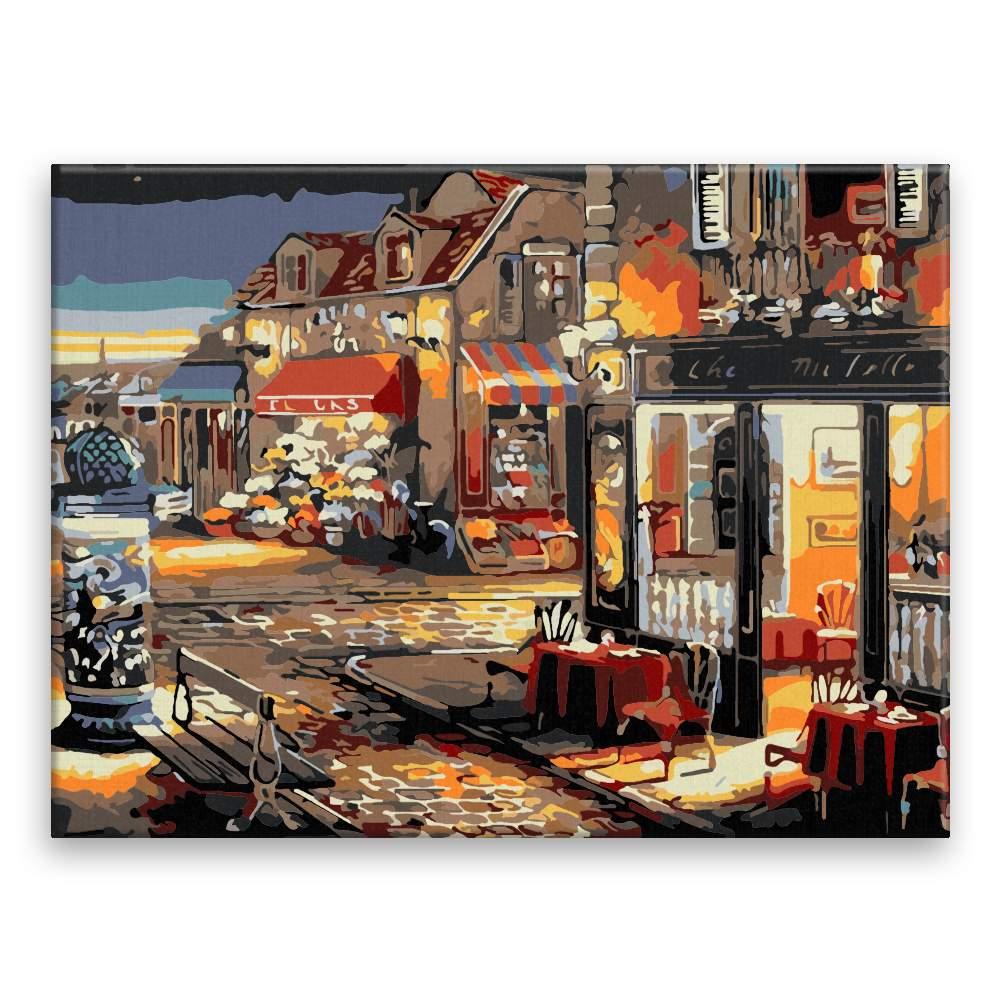 Malování podle čísel Večerní restaurace