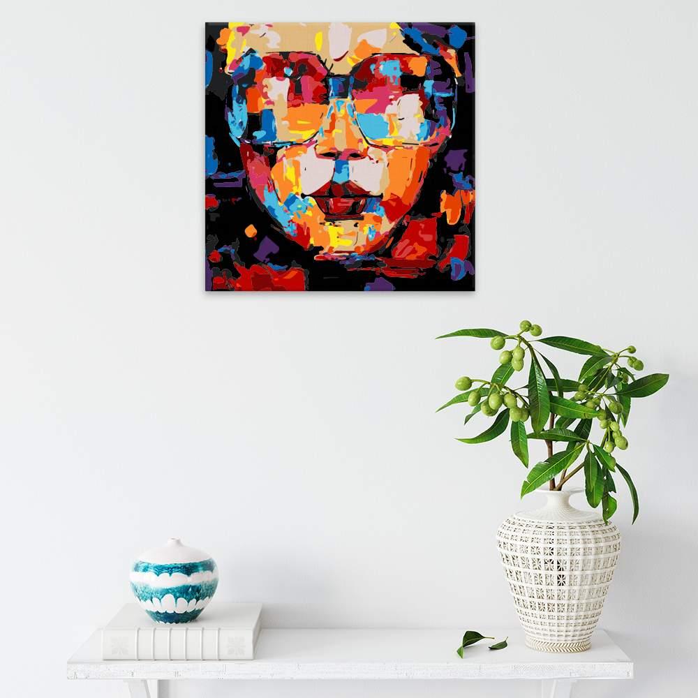 Malování podle čísel S brýlemi