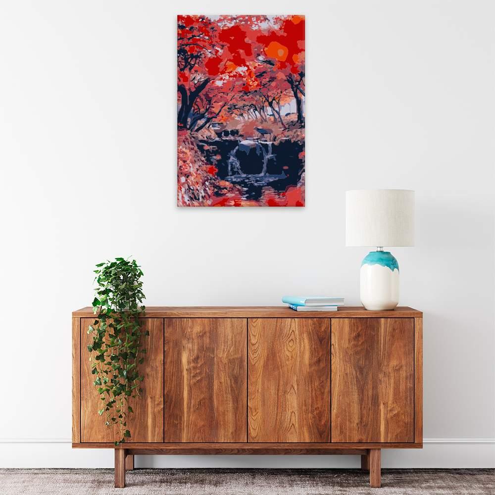 Malování podle čísel Rudý les