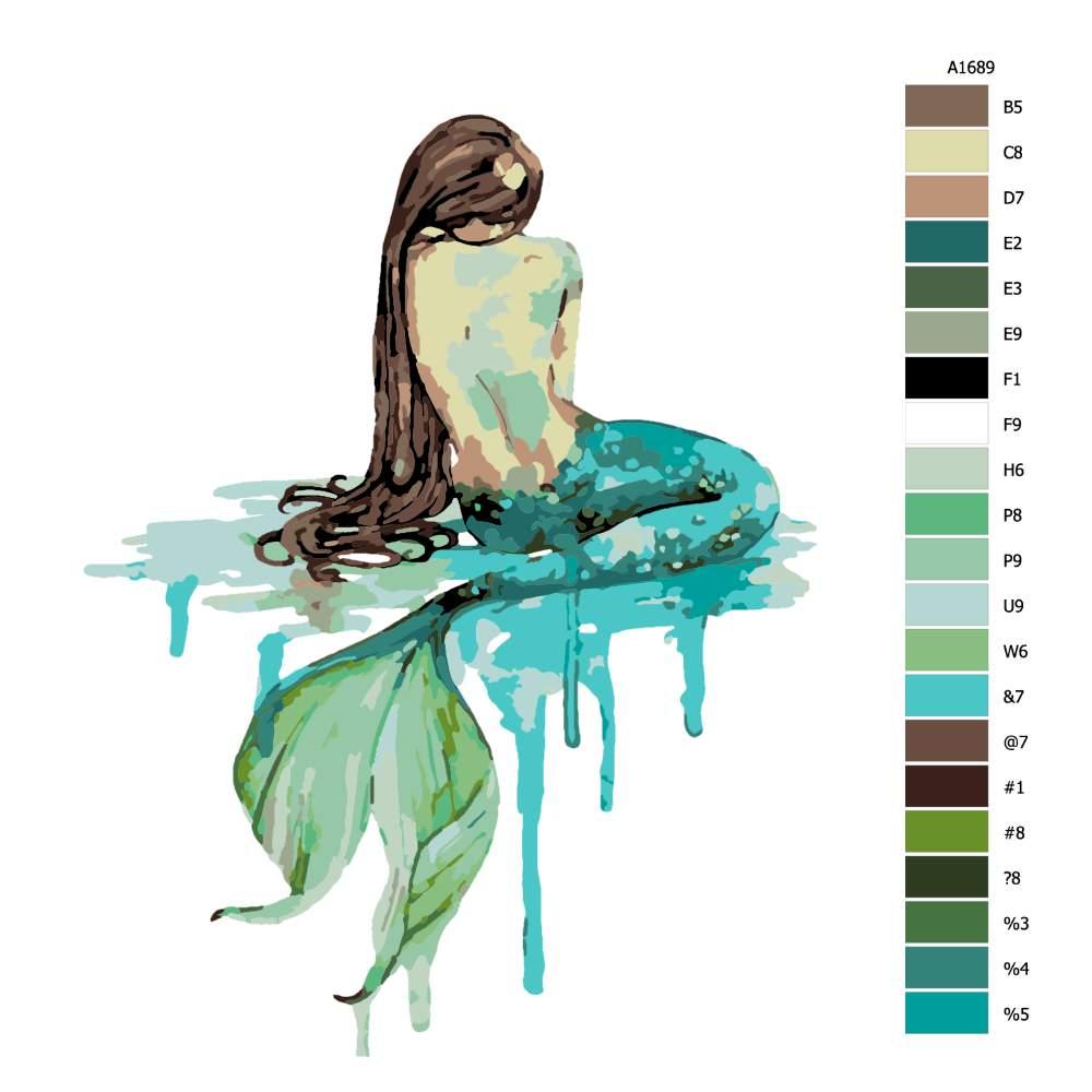 Malování podle čísel Mořská pana