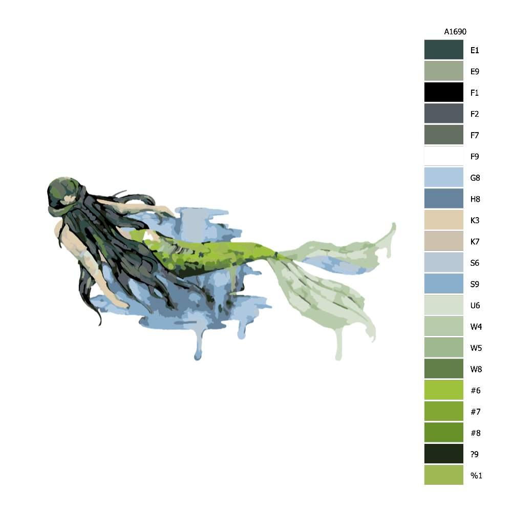Návod pro malování podle čísel Plavající mořská pana