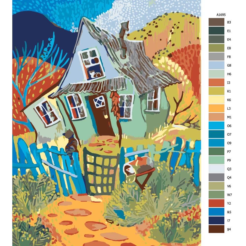 Návod pro malování podle čísel Cestička domů