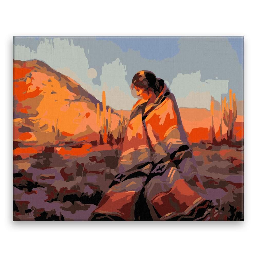 Malování podle čísel Za úsvitu v Mexiku