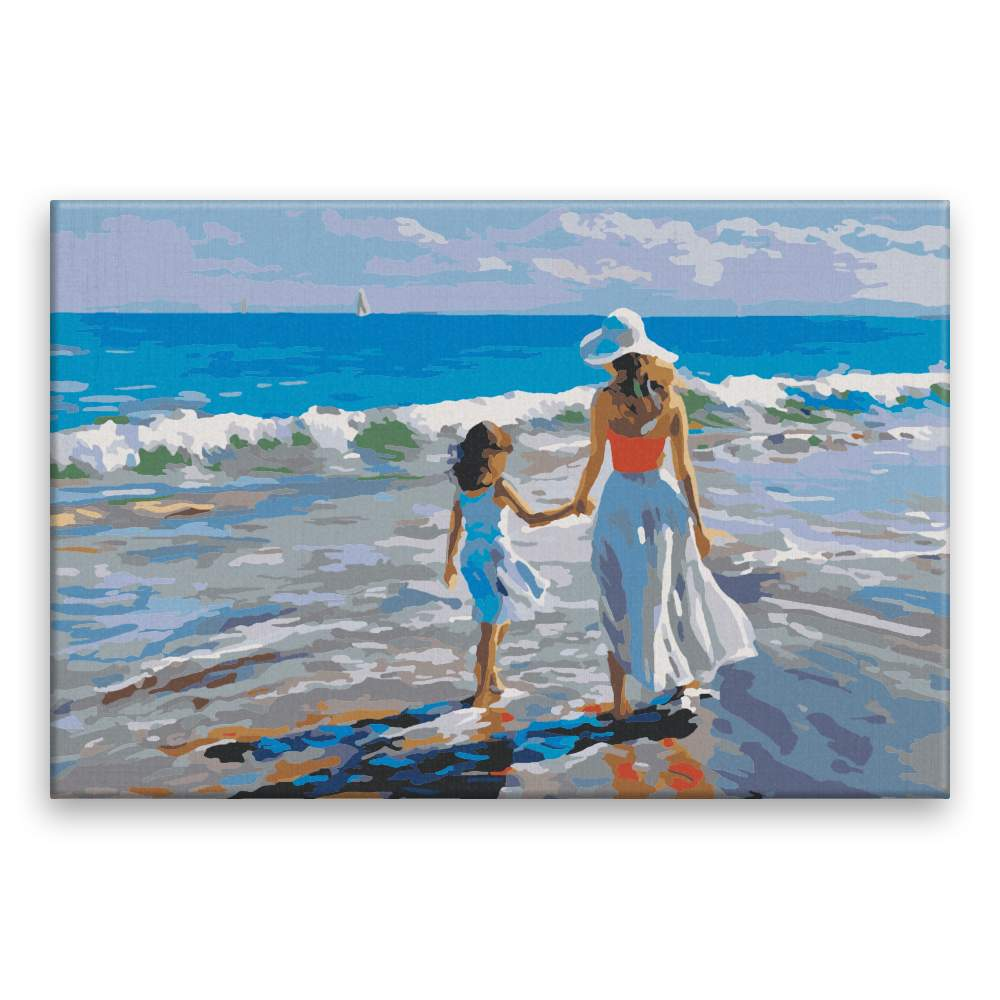 Malování podle čísel Matka s dcerou