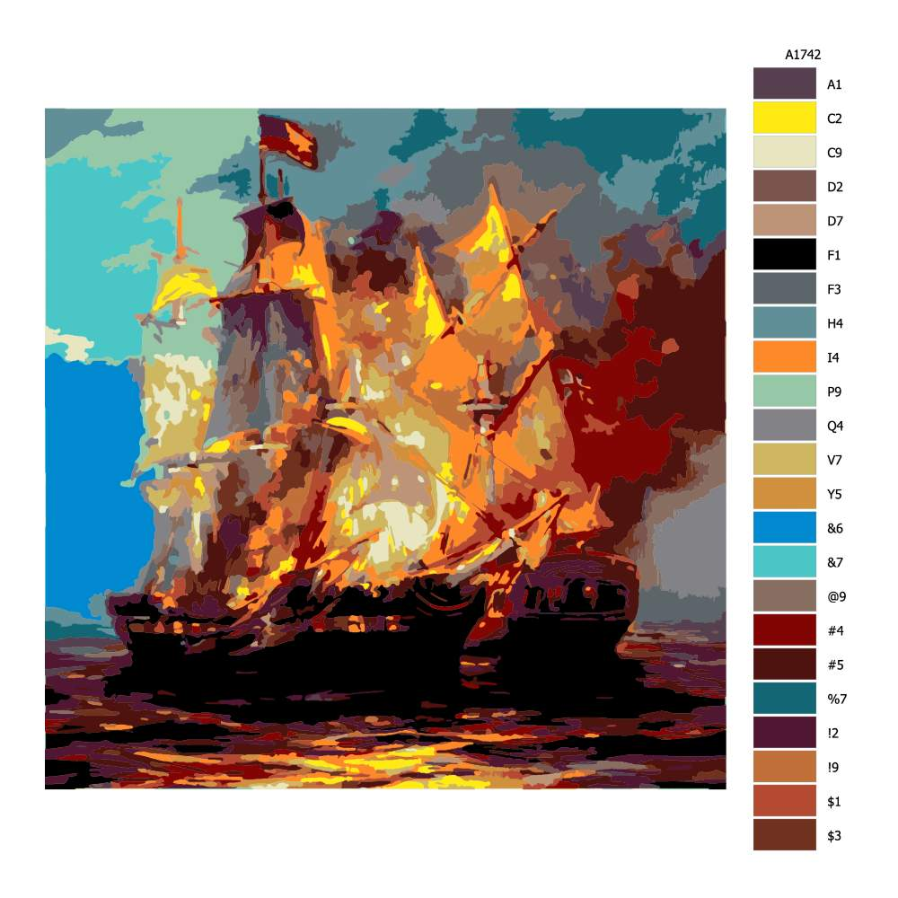 Návod pro malování podle čísel Porážka