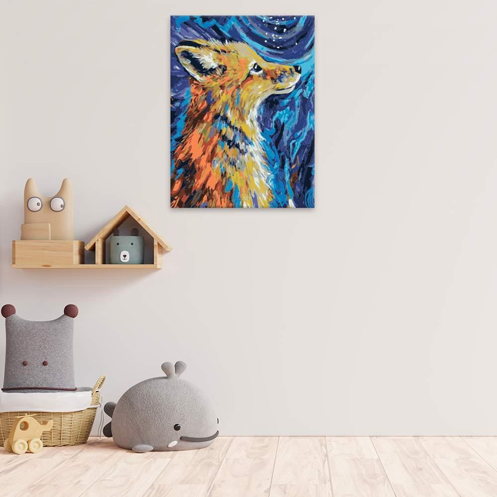 Malování podle čísel Liška z pohádky