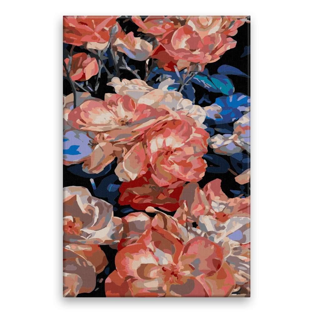 Malování podle čísel Ušlechtilé květy