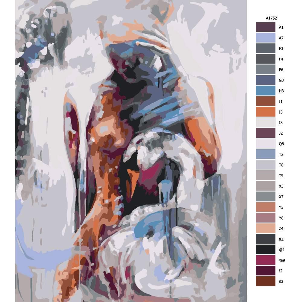 Návod pro malování podle čísel Nahá s labutí