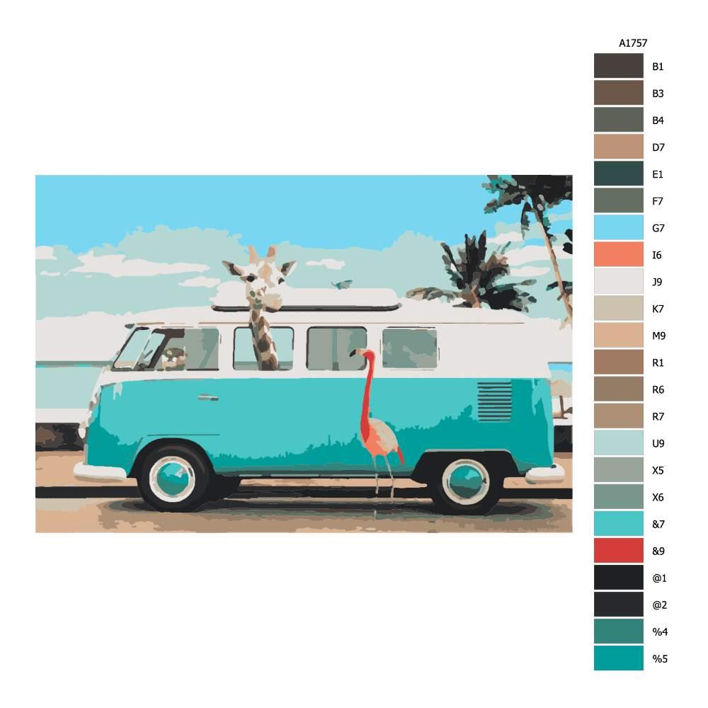 Návod pro malování podle čísel Na cestách