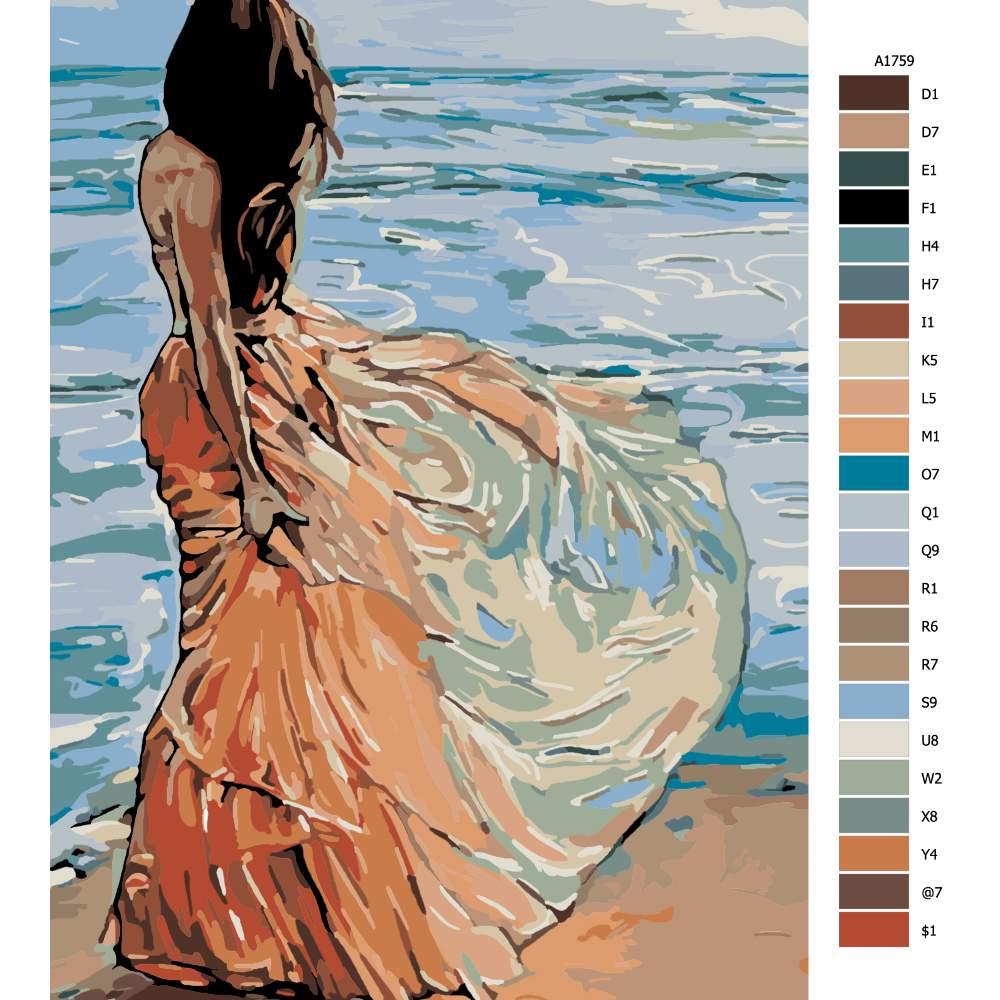 Návod pro malování podle čísel Romantika pro jednoho