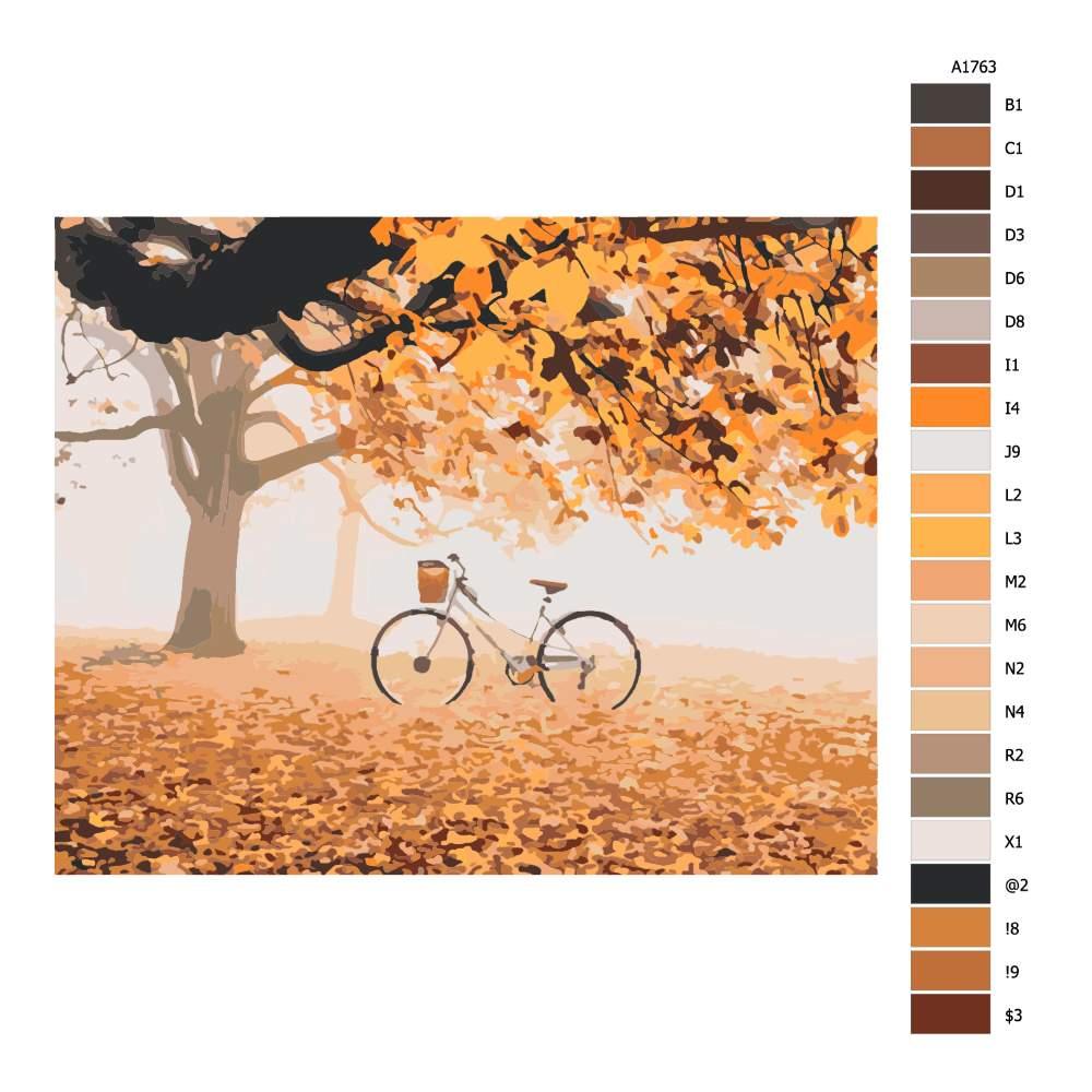Návod pro malování podle čísel Kolo a oranžová