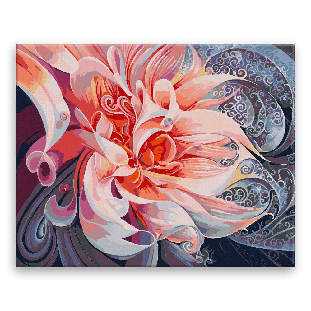 Malování podle čísel Spiritualní květy