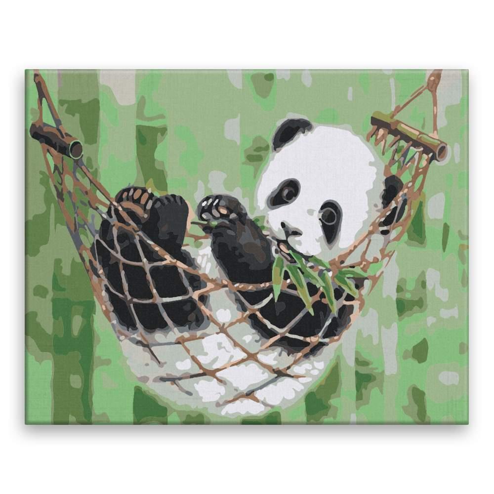 Malování podle čísel Panda v houpací síti