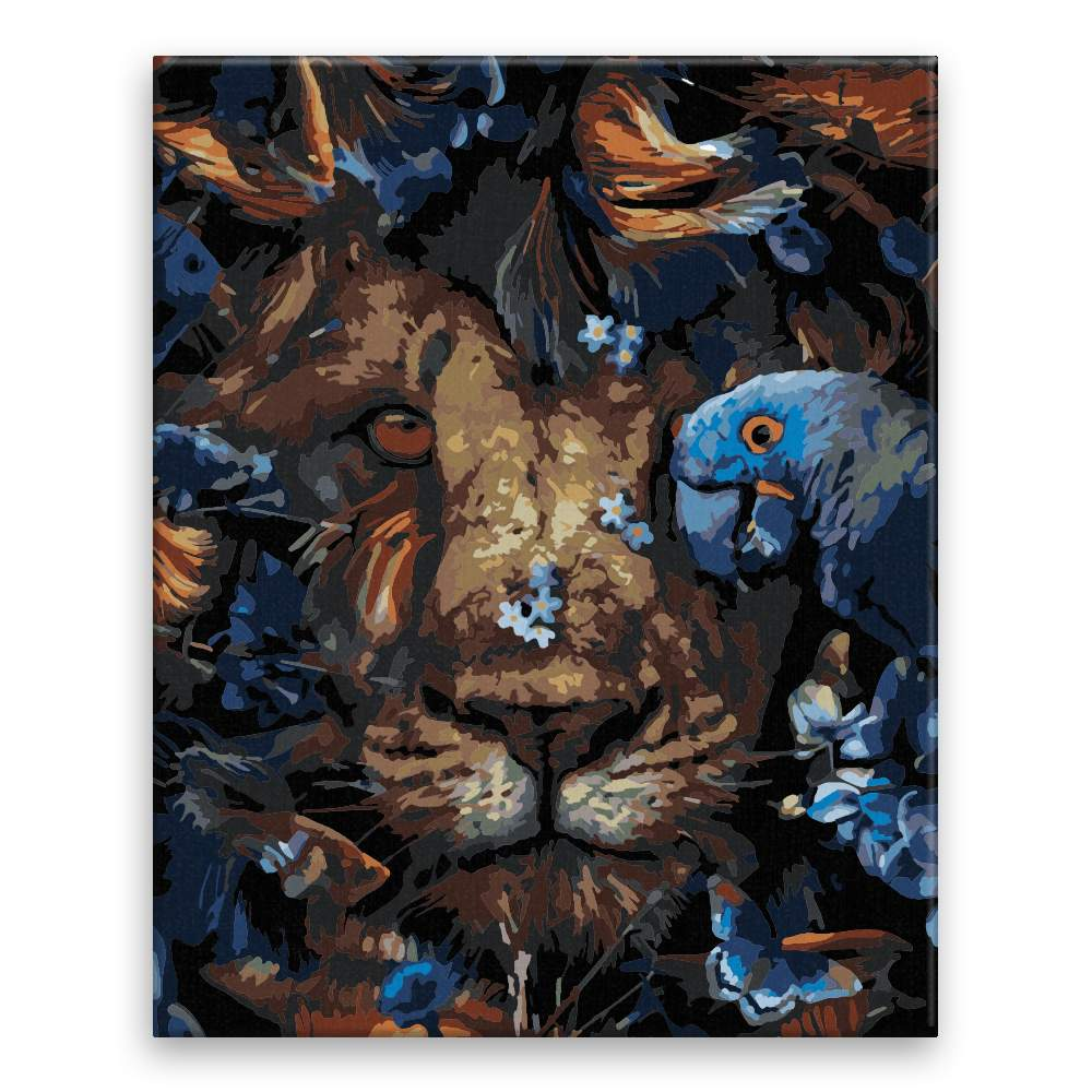 Malování podle čísel Král jungle